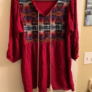 Velzera brand blouse sz 1x  super cute